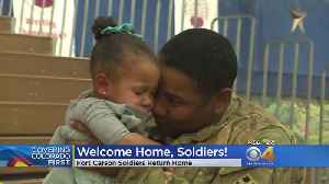 Fort Carson Soldiers Welcomed Home [Video]