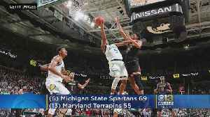 News video: No. 6 Michigan State Beats No. 13 Maryland 69-55