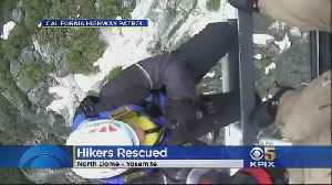 Yosemite Hikers From Britain Saved In Dramatic Helicopter Rescue [Video]