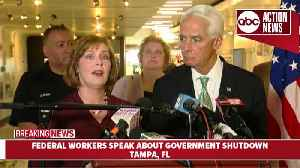 Federal workers speak out against government shutdown   News conference [Video]