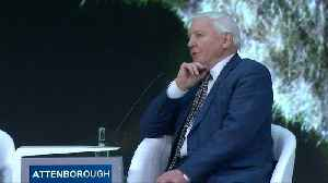 Prince William interviews naturalist David Attenborough on climate change at Davos [Video]