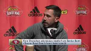 San Francisco 49ers head coach Kyle Shanahan explains the advantage of coaching at Reese's Senior Bowl [Video]