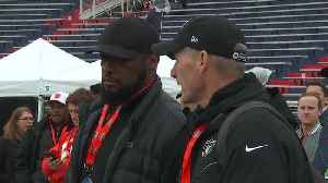 Oakland Raiders general manager Mike Mayock scouts players at Senior Bowl alongside Pittsburgh Steelers head coach Mike Tomlin [Video]