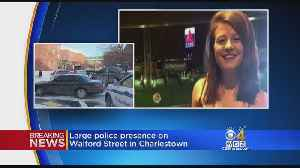 Large Police Presence In Charlestown In Missing Woman Investigation [Video]