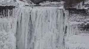 This Weekend's Chilling Temperatures Turned Niagara Falls Into a Winter Wonderland [Video]