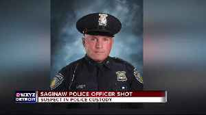 Saginaw Township officer shot in face gives chilling account on police radio [Video]
