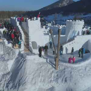 World's largest snow maze opens in Poland [Video]