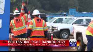 Protesting PG&E Bankruptcy [Video]