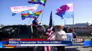 Military Transgender Ban Now in Effect [Video]