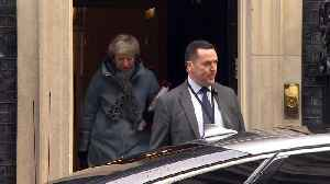 Theresa May departs Downing Street for PMQs [Video]