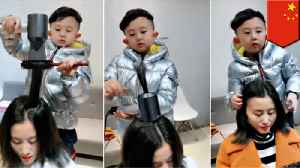 China's hottest hairdresser is just six years old [Video]