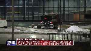 Detroit Metro Airport closed overnight due to bad weather [Video]