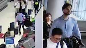 German Thief, stealing suitcase From Airport Baggage Carousel [Video]
