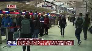 DTW closed because of weather [Video]