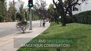 Skateboarder fails trick and ends up where it hurts the most! [Video]