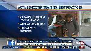 Lee County Sheriff's Office holding active shooter training seminar [Video]