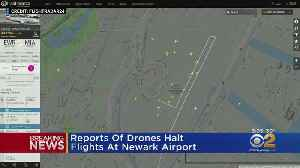 Reports Of Drones Near Newark Airport Halts Flights [Video]