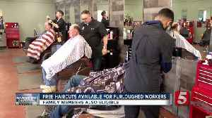 Haircuts offered to furloughed workers [Video]