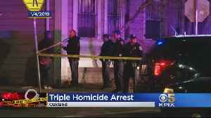 Person Of Interest Arrested In Oakland Triple Homicide [Video]