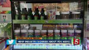 Hemp business owners worry FDA memo could impact bottom line [Video]