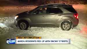 Akron residents fed up with unplowed streets three days after snowstorm [Video]