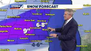Snow storm continues into Tuesday morning [Video]