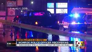 Monroe police officer recovering after serious crash [Video]