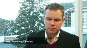 Matt Damon drums up support for clean water charity in Davos [Video]