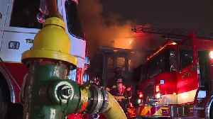 3 adults and one child hospitalized after East Cleveland fire [Video]