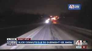 Snowy road conditions lead to slick roads for Wednesday morning commute in Kansas City [Video]