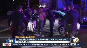 Man accused of leading chase arrested at gunpoint [Video]