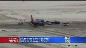 Southwest Plane Becomes Disabled At Logan Airport [Video]