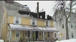 Fire Destroys Newton Home As Roof Collapses [Video]