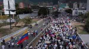 Thousands of protesters express their anger at the Venezuelan president [Video]