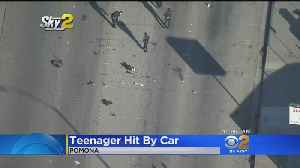 Teenage Boy In Critical Condition After Being Hit By Car In Pomona [Video]