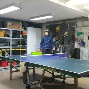 Guy Hits Ping Pong Ball Perfectly into Duct Tape Roll [Video]
