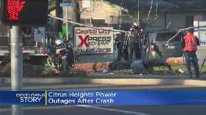 14K Lose Power In North Highlands After Car Crashes Into Power Pole [Video]