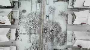 Snow covers Milwaukee's East Side [Drone Footage] [Video]