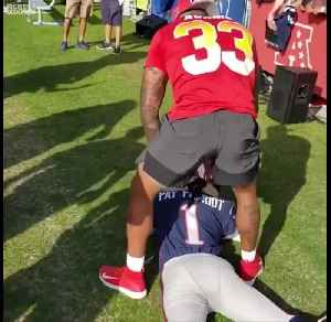 Jamal Adams tackles Patriots mascot at Pro Bowl practice [Video]