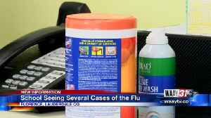 School seeing several cases of the flu [Video]