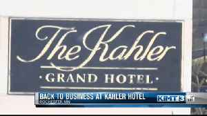 Sprinkler pipes burst in Kahler Grand Hotel [Video]