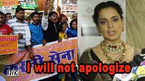 Kangana Ranaut clarifies, she will not apologize to Karni Sena [Video]