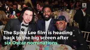 'BlacKkKlansman' Is Returning to Theaters Following Oscar Nominations [Video]