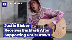 Justin Bieber Receives Backlash After Supporting Chris Brown [Video]