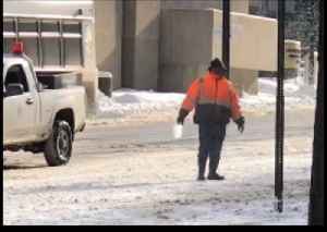 Patient Ohio City Worker Salts Road One Scoop at a Time [Video]