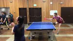 Guy Misses Ping Pong Ball During Table Tennis Match [Video]