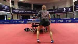 Professional Ping Pong Players Player Have Intense Match [Video]