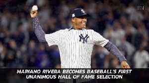 The First Player To Be Selected To Baseball Hall Of Fame Unanimously [Video]