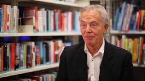 News video: Former UK PM Blair says he favours a second referendum on Brexit