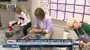 Barron Collier High School students create bowls to help fight hunger through local event [Video]